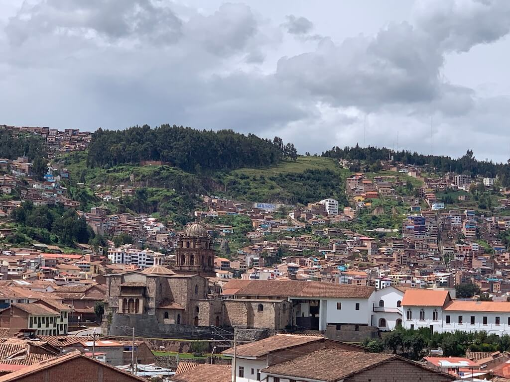 The breathtaking view of Cusco from our AirBnb terrace